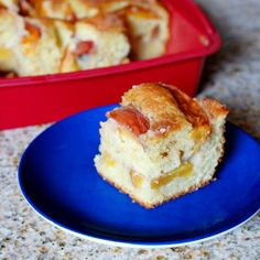 Eva Bakes - There's always room for dessert!: Peach Greek yogurt coffee cake