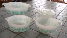 PYREX AMISH BUTTERPRINT 443 441 472 and 401 by BoutiqueEtcBySimone