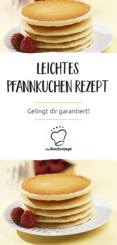 Leichtes Pfannkuchen Rezept This pancake recipe is particularly easy to prepare and guaranteed to succeed! Since the pancakes are small, you can easily turn them over. And they taste heavenly - Salsa Dulce, Cold Cake, Snacks Sains, Zucchini Cake, Dessert Recipes, Desserts, Pancake Recipes, Cookies Et Biscuits, Chip Cookies