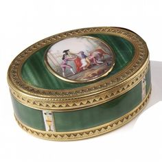 A FRENCH GOLD AND ENAMEL SNUFF BOX, JEAN-BAPTISTE MAUVINT, P