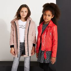 Discover our collection for boys, girls and babies from luxury designer Karl Lagerfeld. Shop our extensive Karl Lagerfeld children's collection. Winter Outfits, Kids Outfits, Karl Lagerfeld Kids, Faux Fur Hooded Coat, Winter Looks, Kids Girls, Autumn Fashion, Leather Jacket, Stylish
