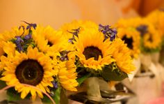 Floral arrangements from our Paoli store #ACME #Wedding #Sunflowers