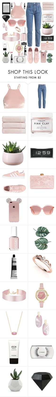 """""""be mine"""" by latte-x ❤ liked on Polyvore featuring Christy, Herbivore, LEFF Amsterdam, adidas Originals, Edie Parker, Gucci, Essie, Aesop, Kendra Scott and Stila"""