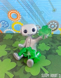 Lucky You Robot Limited Edition by sleepyrobot13 on Etsy