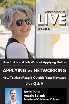 Applying for a job directly only has a 2% chance of success. Learn how to bypass applying for jobs through building your career story and brand. #careers #careerstories #jobsearch #jobseeker