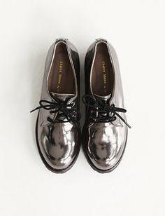 Shiny shoes.