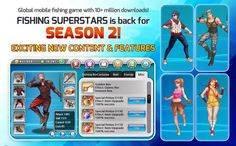 Fishing Superstars: Season 2, Android market best android games download free android apps Best Android Games, Free Android, Android Apps, Global Mobile, Sports Games, Exciting News, News Games, Games For Kids, Season 2