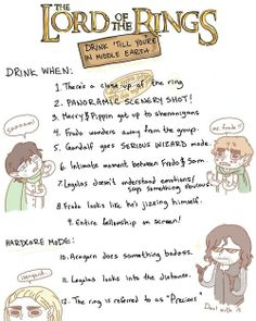 The Lord Of The Rings - Drinking Game
