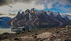 Half way between Clyde River and Pond Inlet. Just amazing scenery. — with Jusa Iqaqrialu and Joatamie Qillaq.  Photo by Niore Iqalukjuak
