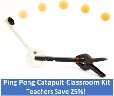 Use the Ping Pong Catapult Classroom Kit to explore STEM! Kinetic & potential energy, experimental design, and data collection. Science Kits, Science Education, Science Projects, Kinetic And Potential Energy, Kinetic Energy, Classroom Setting, A Classroom, Catapult, Data Collection