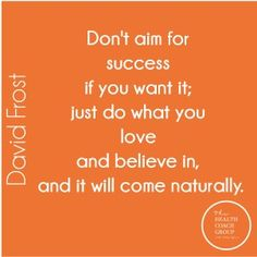 Don't Aim for Success