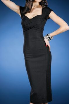 Stop Staring! - 50s Mad Men pencil dress black