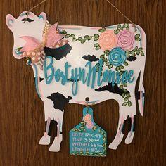 Cowgirl Nursery, Cow Nursery, Nursery Ideas, Nursery Signs, Hospital Door Hangers, Baby Door Hangers, Western Babies, Cute Baby Names, Everything Baby
