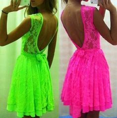 Neon dresses, why are they not in my closet yet?!?!