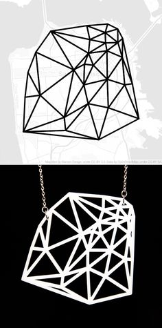 Designer Meshu creates custom jewelry based off of your foursquare check-ins.      This is what it'd look like if you were to check-in all around San Francisco.