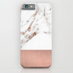 Rose gold marble and foil iPhone & iPod Case