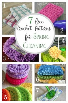 7 Reusable Crochet Patterns for Spring Cleaning | Free Crochet Patterns