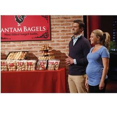 Bantam Bagels are IN THE TANK! Tune in to ABC this Friday at 9pm and catch owners @noleksak and @elyseoleksak of Bantam Bagels take on the Sharks! Photo credit: ©(ABC/Kelsey McNeal) #sharktank #inthetank #bantambagels