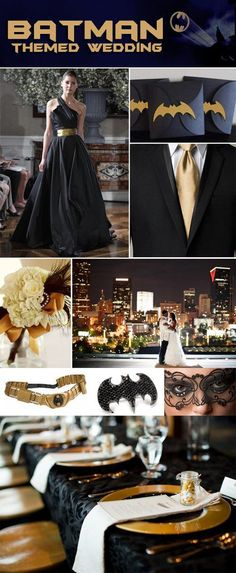 batman themed wedding! Ok I have to give it to them.... It's pretty cool!