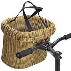 Proutěný košík na kolo SALEEN