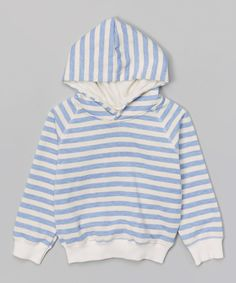 Look at this Light Blue Stripe Hoodie - Infant, Toddler