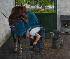 Irish painting - The Farrier  Martin Driscoll