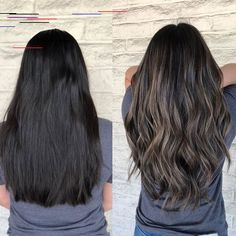 Black Coffee Hair With Ombre Highlights - 10 Cool Ideas of Coffee Brown Hair Color - The Trending Hairstyle Ashy Hair, Ombré Hair, Hair Spa, Hair Color Balayage, Hair Highlights, Dark Brunette Balayage Hair, Ash Brunette, Black Balayage, Ash Brown Balayage