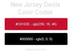 new jersey devils team color codes