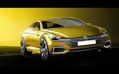VW スポーツクーペ・コンセプトGTE の予告スケッチ