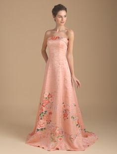 Wedding dress, if high quality wedding dress W by Watabe Wedding / kimono dress · silk · pink · line A