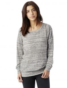 Slouchy Space-Dye Eco-Jersey Pullover