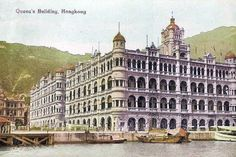 Bill ✔️ Historic! The Queen's Building, Hong Kong Island, Hong Kong. Note that it was right on the waterfront.... reclamation came later and the site is about 700m back from the water now. Bill Gibson-Patmore. (curation & caption: @BillGP). Bill✔️