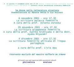 2001 11 06  le donne nella letteratura straniera-1