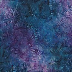 Cassiopeia-Fractals, Blue Purple by Cantik Batik. Distributed exclusively by Brewer Sewing.