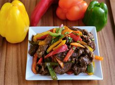 Adobo Peppered Steak is an easy Paleo stir fry beef and vegetable dish with a Filipino twist!