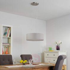 Lámpara colgante Gala de fieltro en color gris-6722200-30