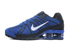 finest selection cd9df db14b Online Nike Shox Kpu Royal Blue White Black Boys Sneakers Men s Running  Shoes Sneakers