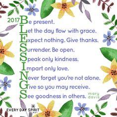 2017 Blessings! xo Get the wallpaper app at ~ www.everydayspirit.net xo #gratitude #2017 #blessings