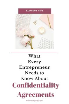 This article tells you what every entrepreneur needs to know about confidentiality agreements, also known as non-disclosure agreements or NDAs. Marketing Information, Accounting Information, Non Disclosure Agreement, Contract Law, Keep Company, Financial Budget, Trade Secret, Marketing Consultant, First Step