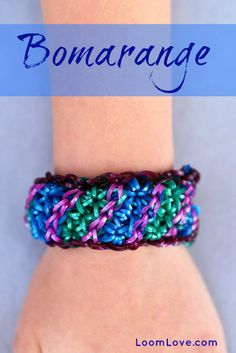 How to Make a Bomarange Rainbow Loom Bracelet #rainbowloom