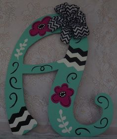 Persoanlized+and+custom+painted+letters+for+by+TwoPeasAndAStitch,+$30.00...want to get our initials to hang on the wall