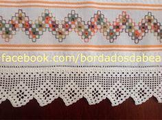 Αποτέλεσμα εικόνας για toalhas de lavabo bordadas