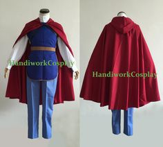 Custom Disney Men's Cosplay Snow White Prince Costume Full Outfit For Adult And Kids by HandiworkCosplay on Etsy https://www.etsy.com/listing/233347447/custom-disney-mens-cosplay-snow-white