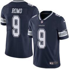 Nike Cowboys #9 Tony Romo Navy Blue Team Color Men's Stitched NFL Vapor Untouchable Limited Jersey