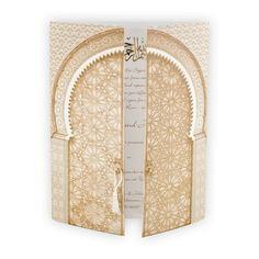 Muslim & Indian Wedding Invitation : Oriental gate camel J3168_UK