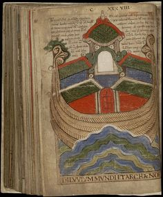 Liber Floridus - Noah's ark