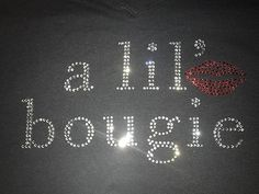 a lil' bougie by PRESSEDToATee on Etsy