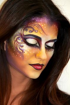 Makeup - Mehron, Artist - Geneviève Jinny Houle, Model - Sindy Perez.. Follow to the Theatrical makeup board--it's not your mother's lipstick.