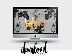 FREE desktop background from Cocorrina: WORDS TO INSPIRE | BELIEVE, INSPIRE, CREATE