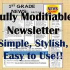 Let's+Work+Smarter,+Not+Harder…..  This+Newsletter+Format+is+fully+modifiable+to+fit+your+classroom+needs!! It+is: •Easy+to+use •Simple+and+styli...